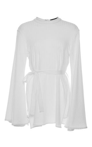 Medium ellery white medusa belted mini dress