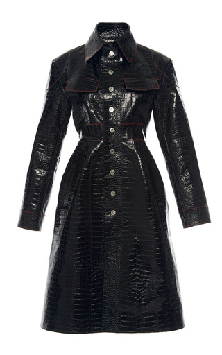 Medium ellery black miss demeanour leather coat