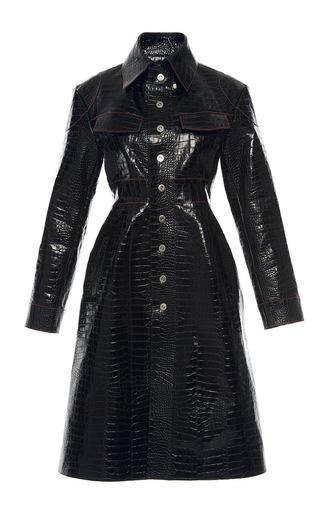 Medium ellery black miss demeanour leather coat
