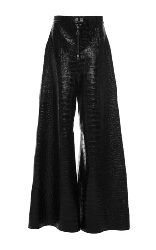 Medium ellery black coney island leather pants