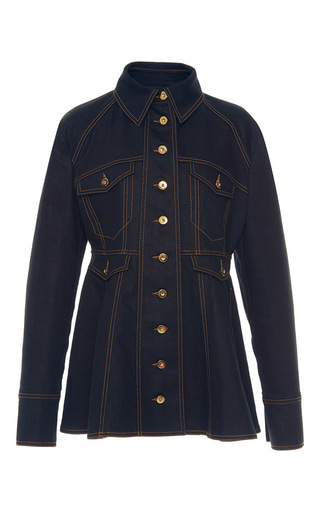 Medium ellery blue bonnie peplum jacket