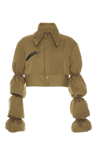 Medium ellery tan wheels bubble sleeve jacket