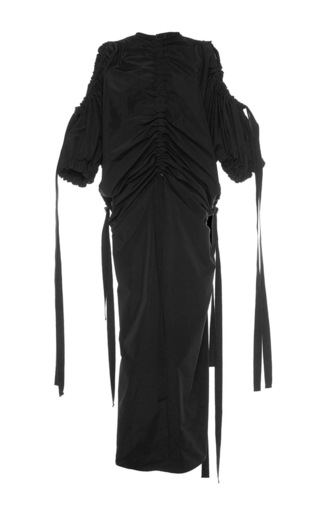 Medium ellery black savate rouched dress