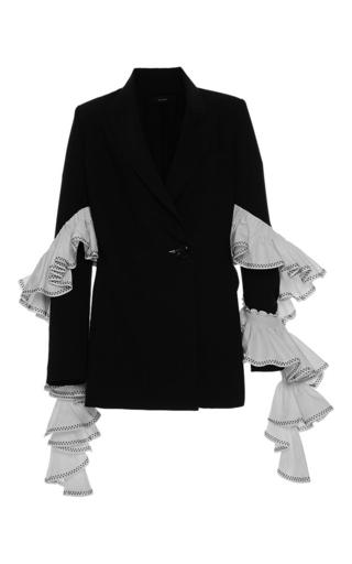 Medium ellery black maneater ruffle blazer