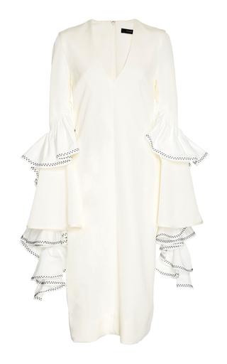Medium ellery white molotov ruffle sleeve dress