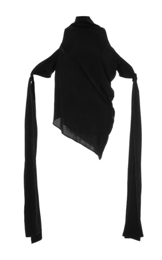 Medium ellery black the lizzies scarf sleeve top