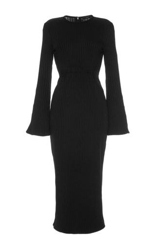 Medium ellery black sucker punch ribbed dress
