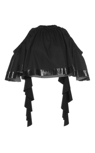 Medium ellery black baby cropped top
