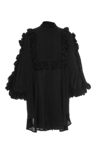 Medium ellery black bling ring ruffle blouse