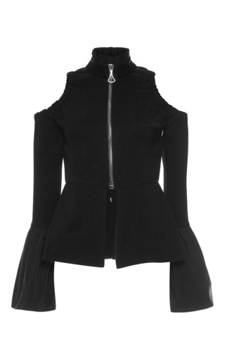 Medium ellery black ayumi zip front jacket