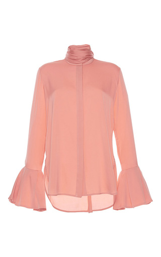 Medium ellery pink lucky scarf tie blouse