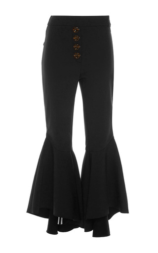 Medium ellery black sin city button flare pants