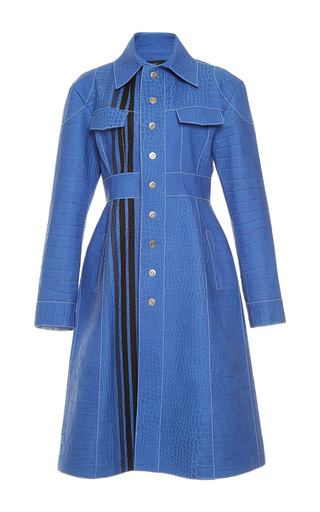 Medium ellery blue miss demeanour leather coat 2