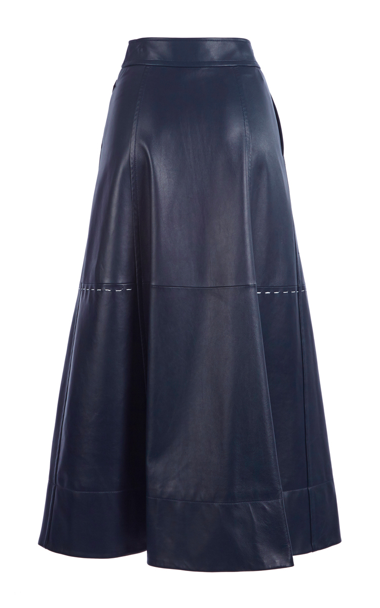 Full Length Leather Skirt by Sonia Rykiel | Moda Operandi