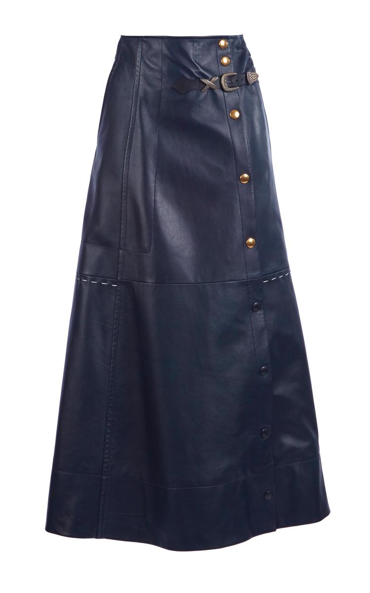 037e0115c6 Full Length Leather Skirt by Sonia Rykiel | Moda Operandi