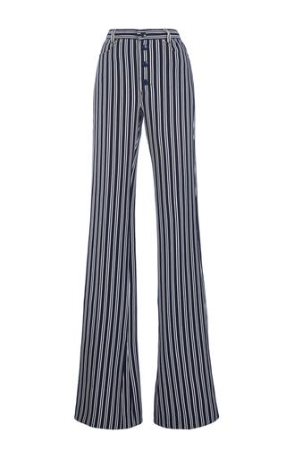 Medium sonia rykiel blue rykiel stripes high waisted knit pants
