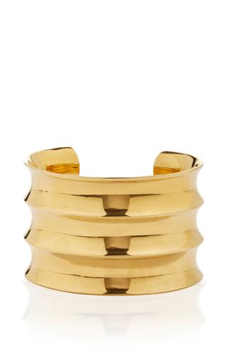 Medium agmes gold ridge cuff