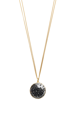 Medium renee lewis black black diamond shake necklace