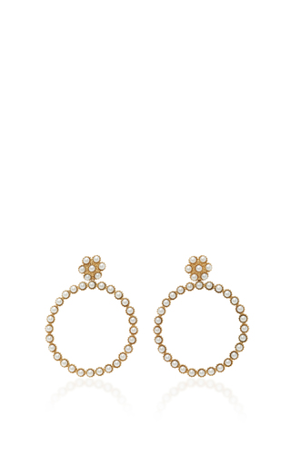 Medium carla amorim white gavea perola earrings