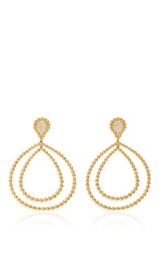 Medium carla amorim gold gold guava drop hoop earrings