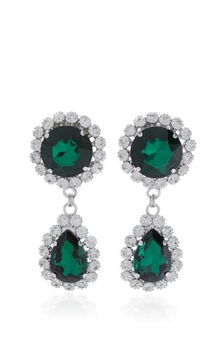 Medium alessandra rich green emerald drop earrings