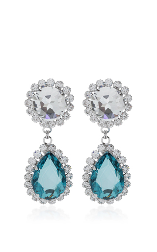 Medium alessandra rich blue blue crystal drop earrings