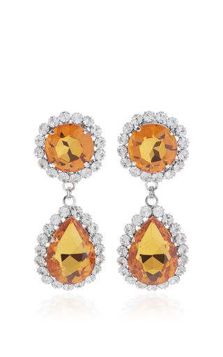 Medium alessandra rich orange topaz drop earrings