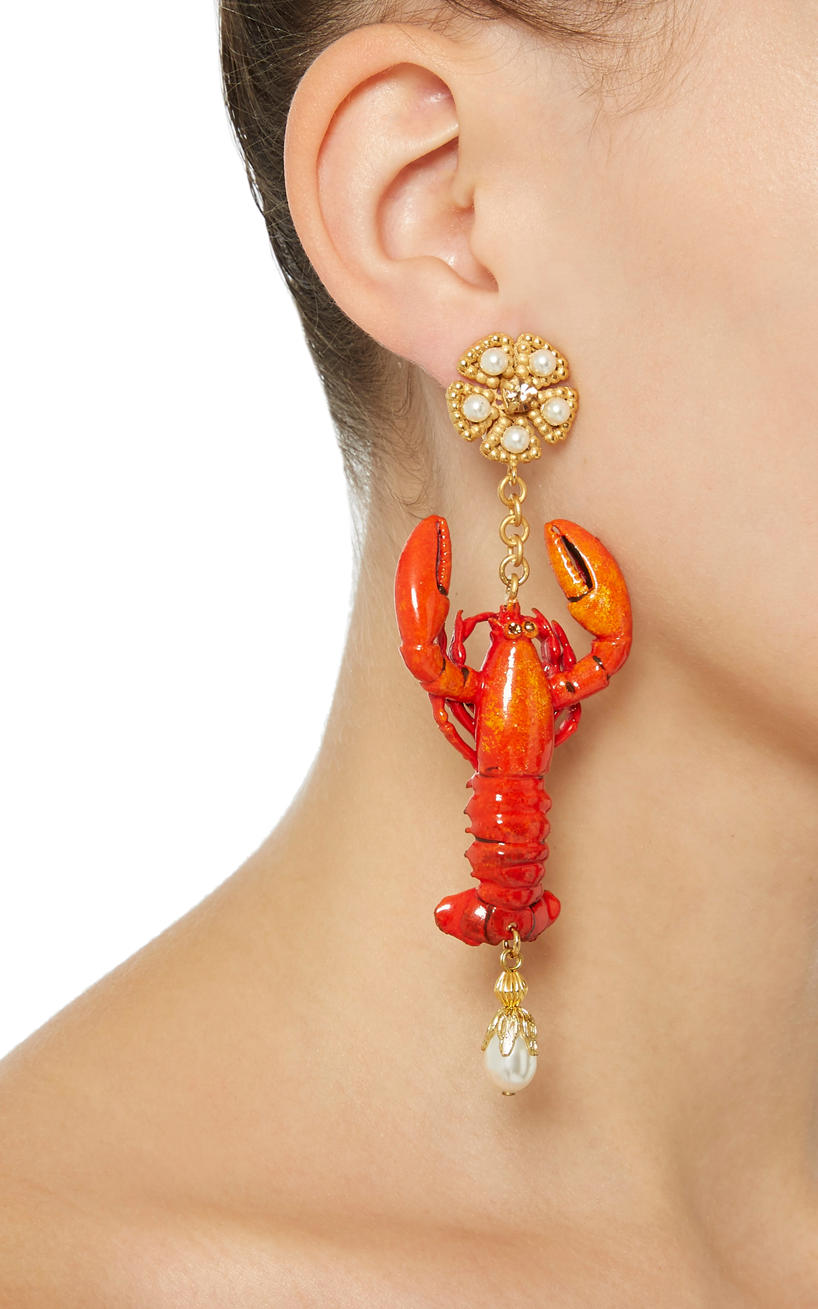 lobster earrings by dolce gabbana moda operandi. Black Bedroom Furniture Sets. Home Design Ideas