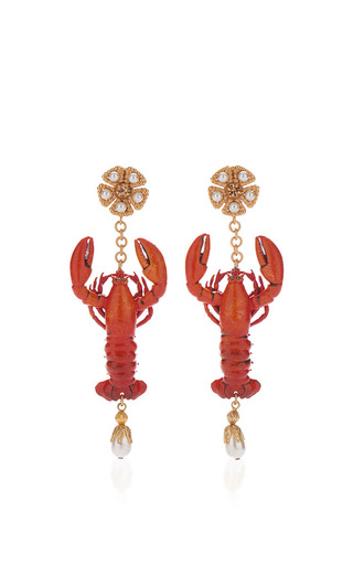 Medium dolce gabbana red lobster earrings