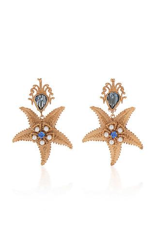 Medium dolce gabbana gold starfish earrings