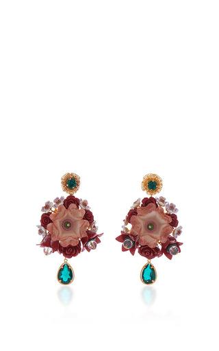 Medium dolce gabbana multi flower drop earrings