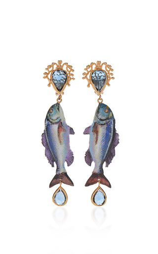 Medium dolce gabbana blue fish earrings