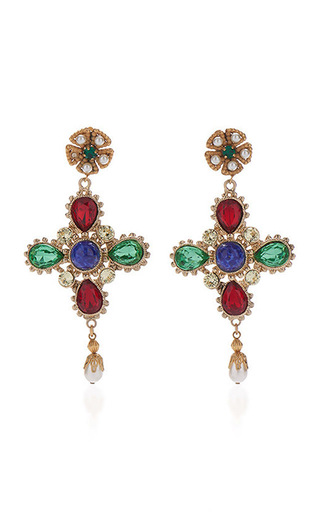 Medium dolce gabbana multi multicolor drop earrings