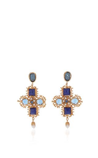 Medium dolce gabbana blue blue drop earrings