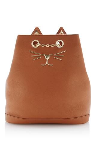 Medium charlotte olympia brown feline backpack