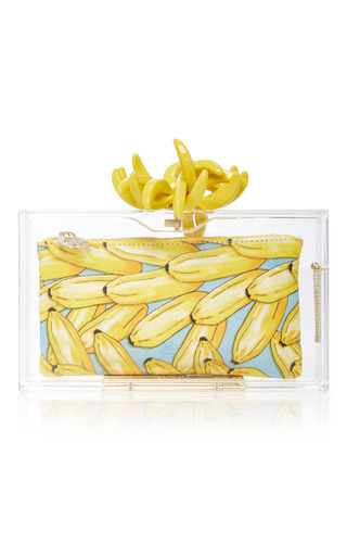 Medium charlotte olympia yellow bananas for pandora perspex clutch