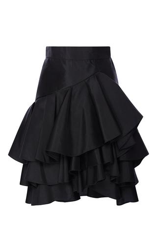 Medium elie saab black mini skirt with ruffles