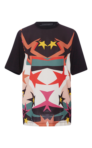 Medium elie saab print stars printed jersey top