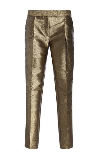 Medium elie saab gold straight legged lame pants