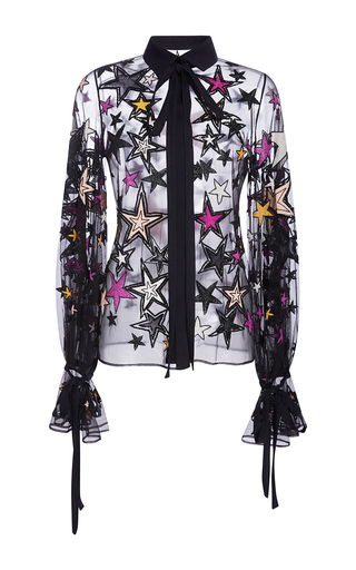 Medium elie saab multi embroidered stars shirt