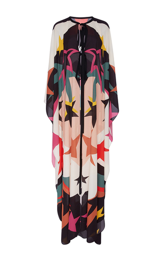 Medium elie saab print long fluid stars printed cape