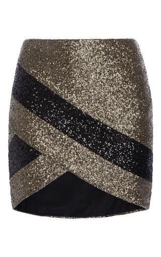 Medium elie saab multi wrapped paillette mini skirt