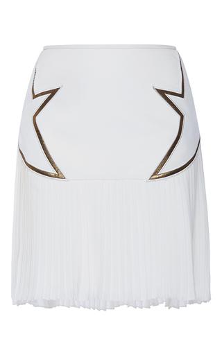 Medium elie saab white asymmetrical pleated mini skirt