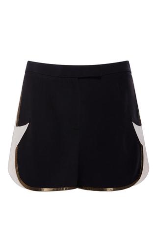 Medium elie saab white star pattern gold bias shorts