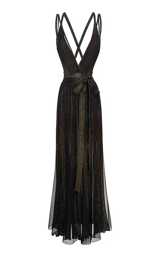 Medium elie saab black knit bodysuit with removable pleated skirt