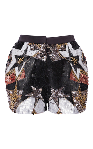 Medium elie saab multi stars embroidered smocking shorts