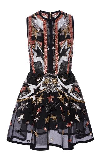 Medium elie saab multi sleeveless stars embroidered short dress