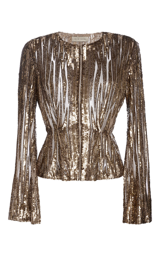 Medium elie saab gold embroidered sequin jacket