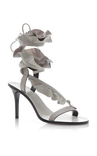 Medium isabel marant ivory ansel leather sandal