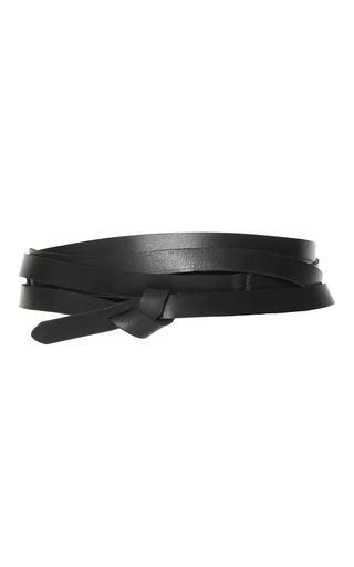 Medium isabel marant black lonny bow belt